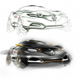 Renault Concept Design Sketch by Sangwon Seok