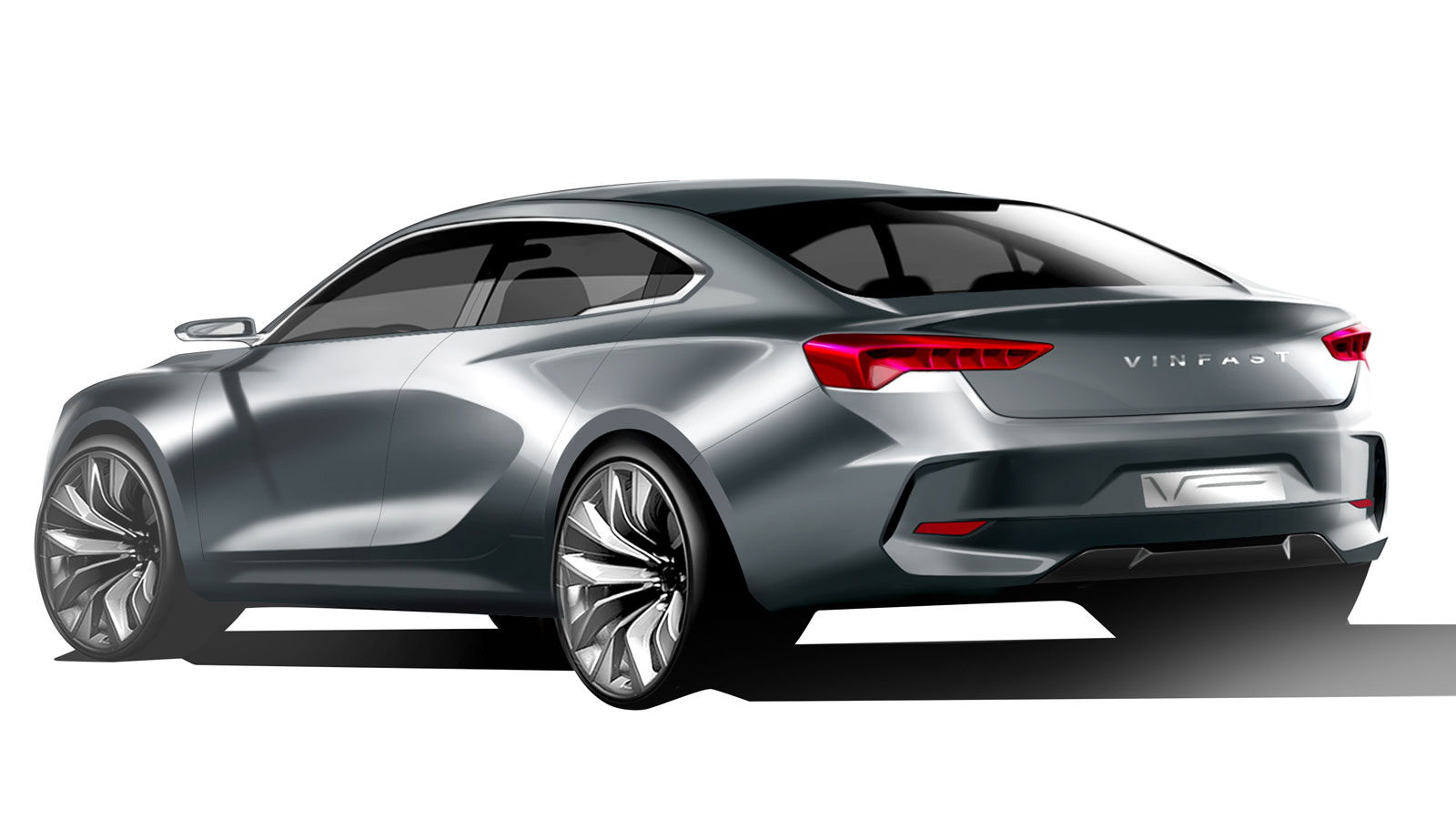 Vinfast Sedan Design Render by Italdesign - Car Body Design