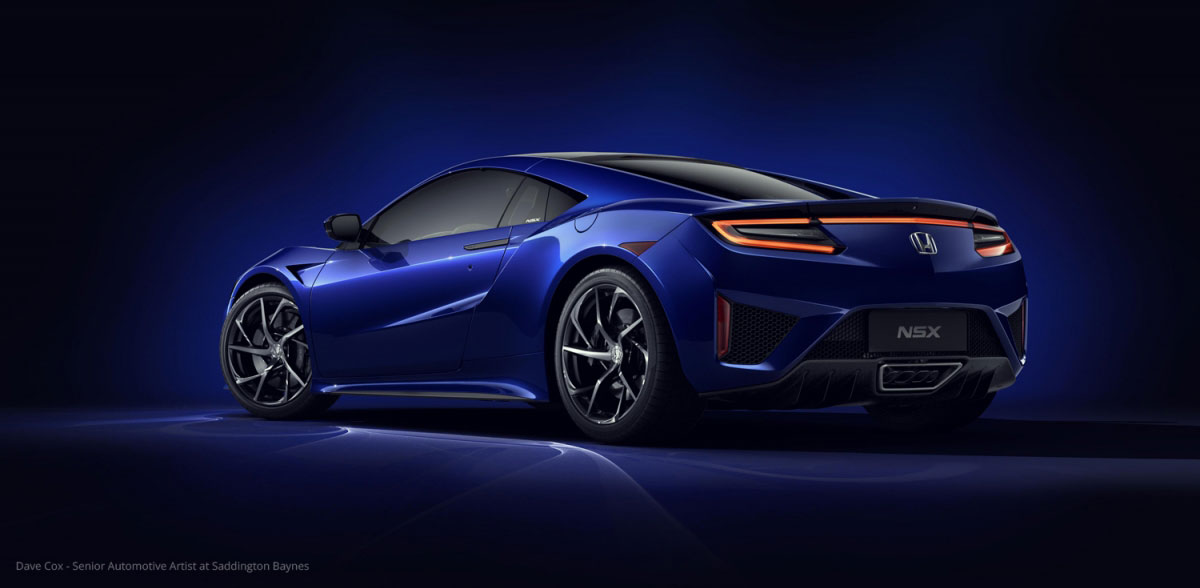 Acura NSX rendering by Dave Cox