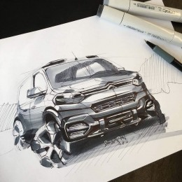 Citroen Concept Design Sketch by Dawson Pon