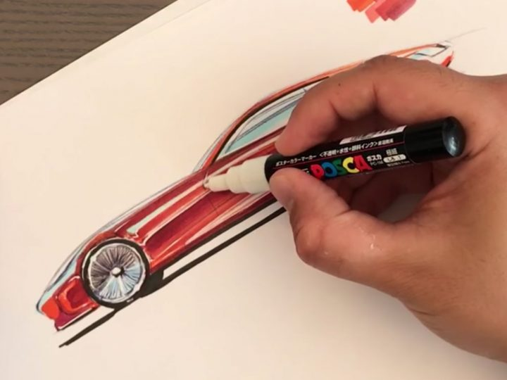 Concept car marker sketch tutorial