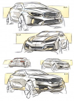 Kia Concept Design Sketches by Minsub Han