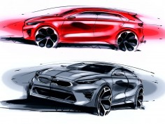 Kia Ceed: design sketches