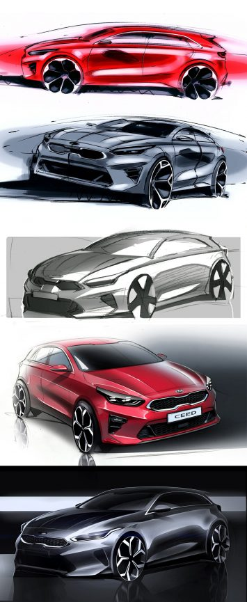 Kia Ceed Design Sketches