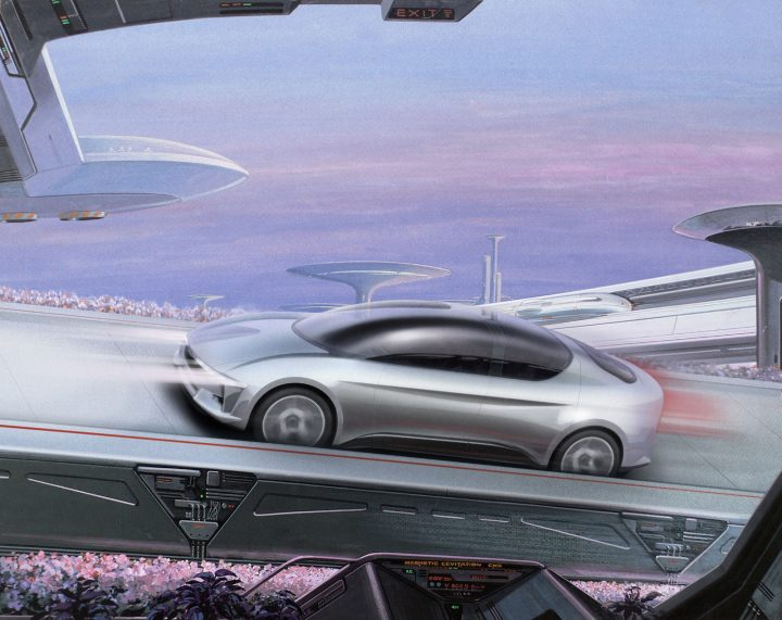Giugiaro Sibylla Concept Illustration