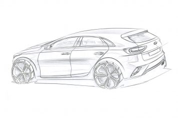 Kia Ceed Design Sketch