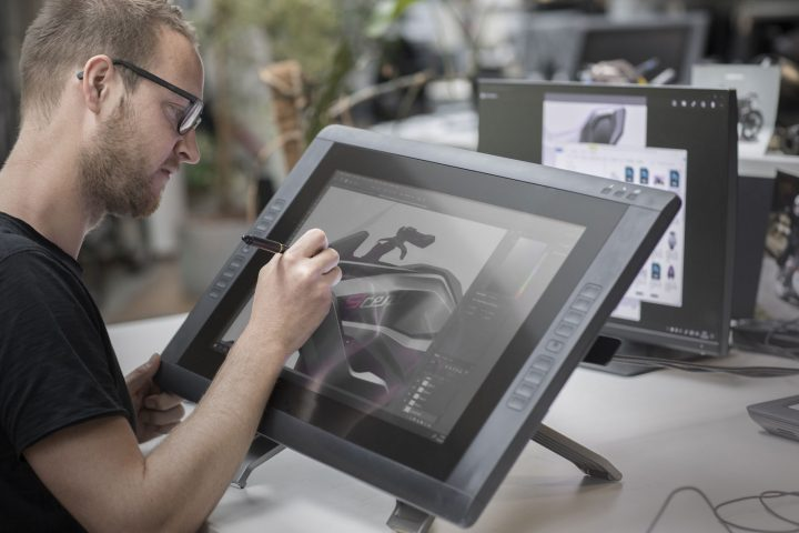 BMW Motorrad Concept 9cento Design Process Sketching on the Cintiq