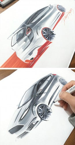 Ford Design Sketches by Orhan Okay
