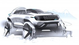 Jeep Concept Design Sketch by Kia designer Sebestyen Marcell