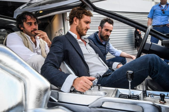 Pierre Casiraghi in the Lamborghini Marzal