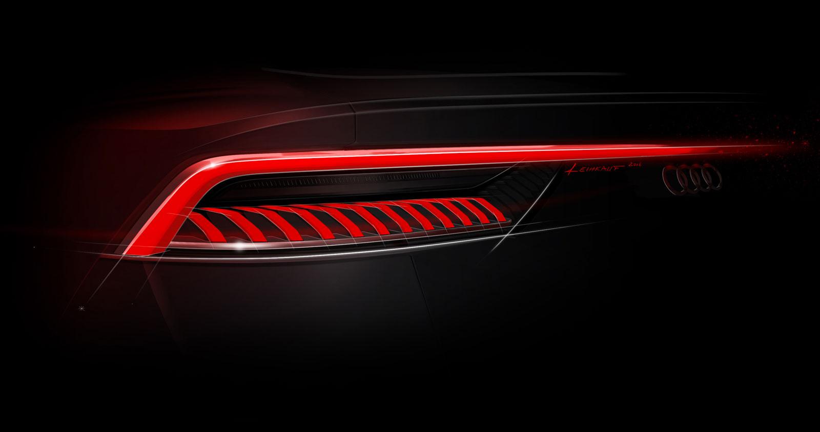 Audi Q8 Tail Light Design Sketch Car Body Design