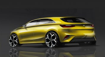 Kia Ceed Design Sketch Render