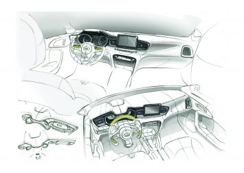 Kia Ceed Interior Design Sketches