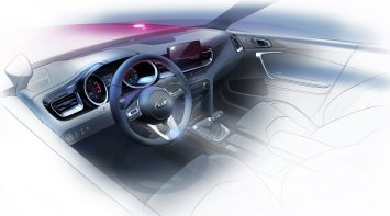 Kia Ceed Interior Design Sketch Render