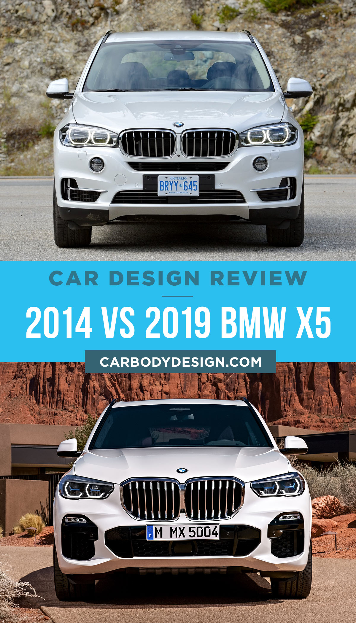 2014 Vs 2019 Bmw X5 Front View Design Car Body Design