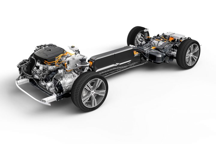 Volvo S60 T8 Plug in Hybrid Chassis