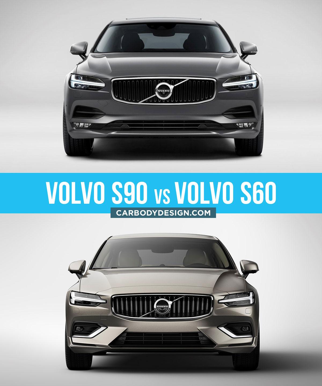 Volvo S90 Vs Volvo S60 Design Comparison