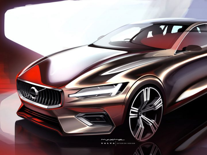 2019 Volvo V60: design sketches and videos