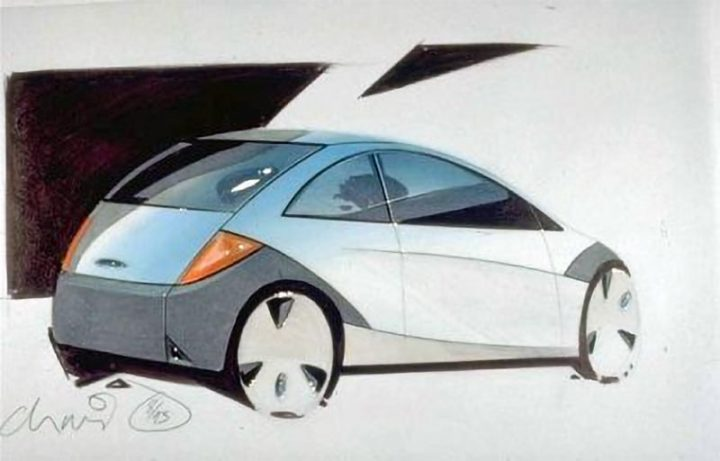 1993 Ford Ka Design Sketch by Christopher Svensson