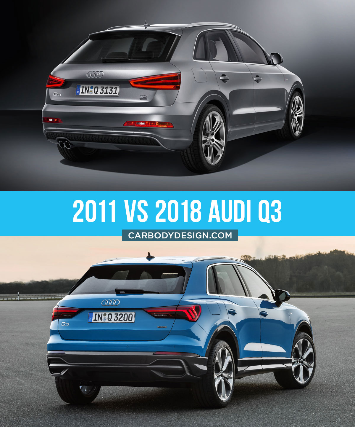 2011 vs 2018 Audi Q3 Design Comparison
