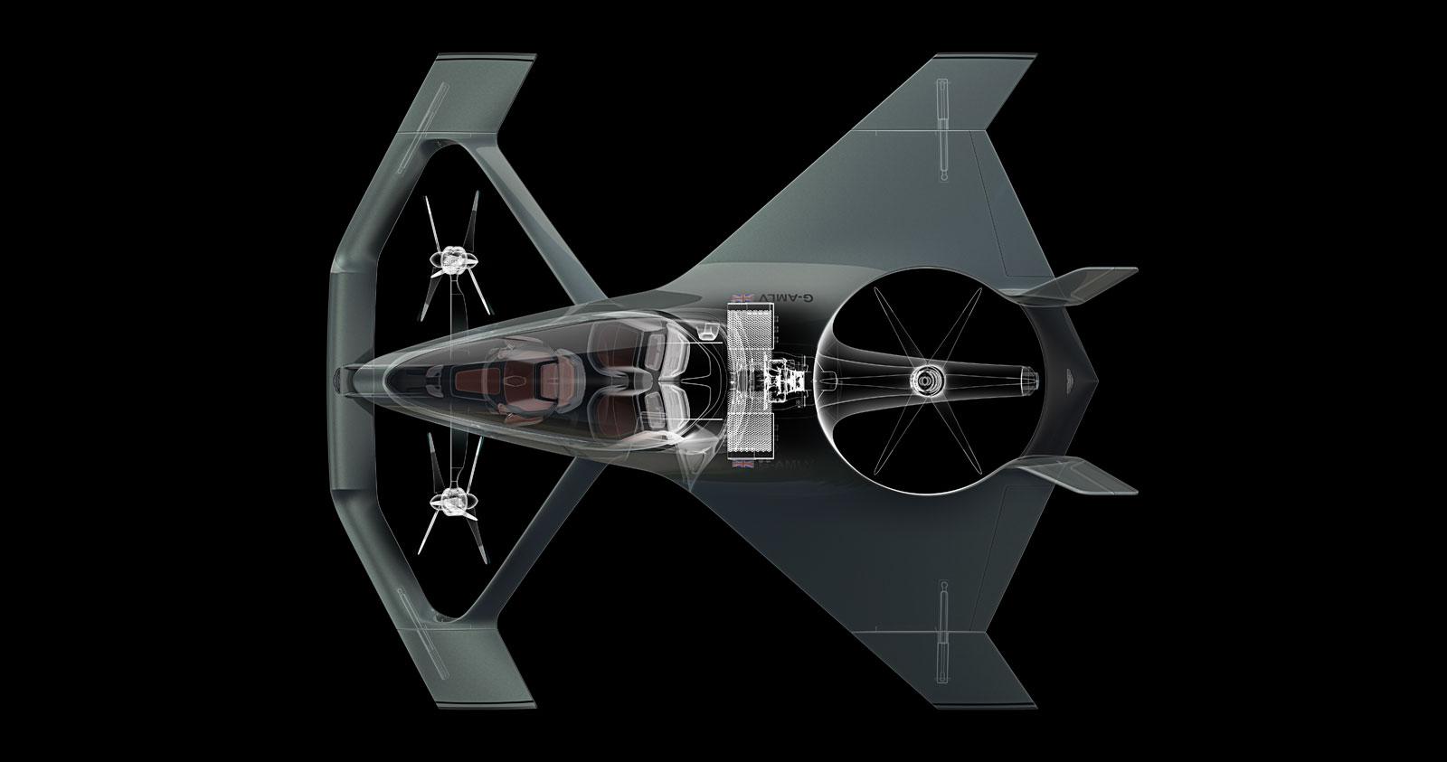 Aston Martin Volante Vision Concept Seethrough Render Car Body Design