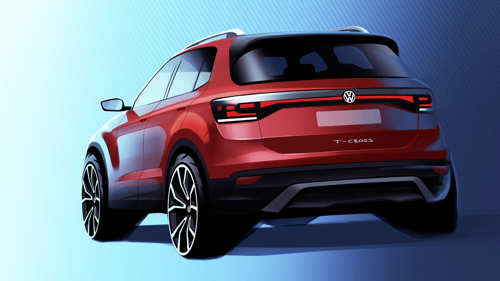 Volkswagen T Cross Design Sketch