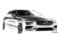 Volvo V60: design sketches