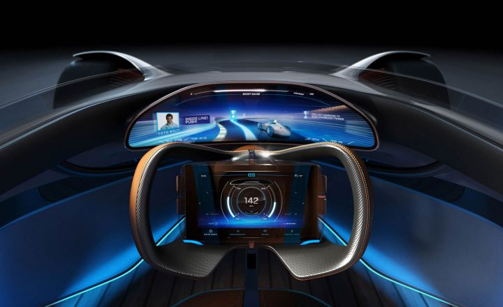 Mercedes-Benz Vision EQ Silver Arrow Concept Interior Design Render