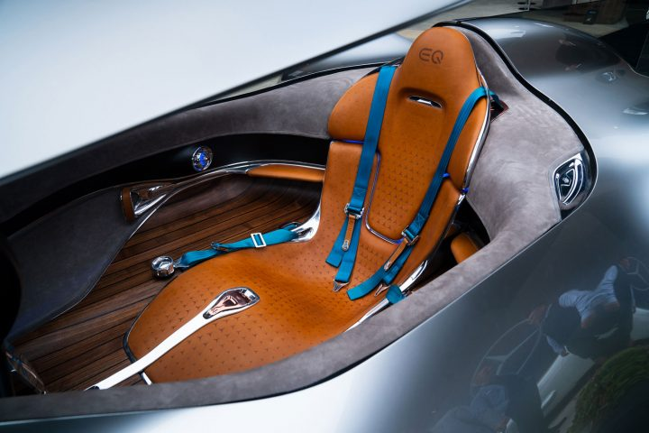 Mercedes-Benz Vision EQ Silver Arrow Concept Seat Design