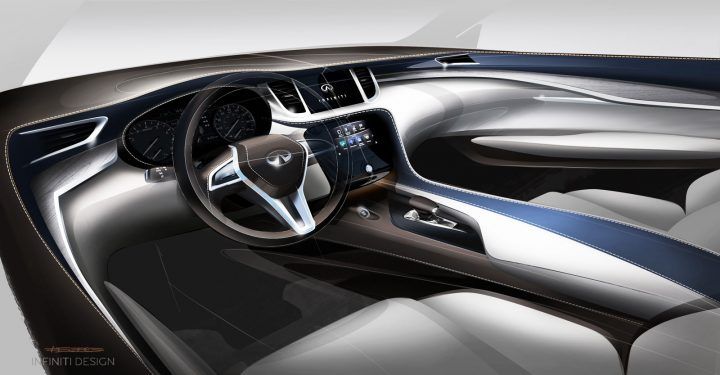 2019 Infiniti QX50 Interior Design Sketch