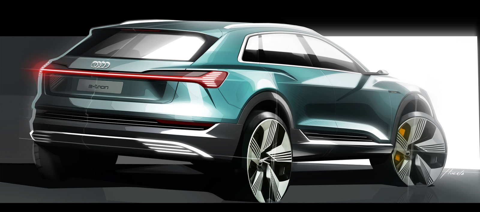 Audi e tron Design Sketch Render