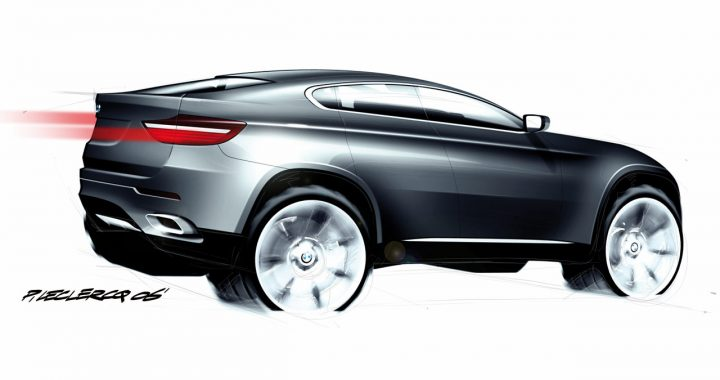 BMW Concept X6 Design Sketch by Pierre Leclercq