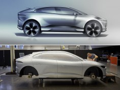Jaguar creates I-PACE Clay Model for Scotland