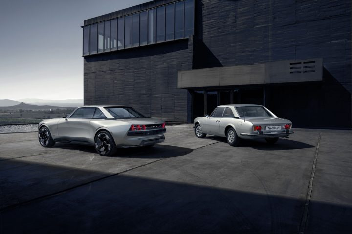 Peugeot e Legend Concept and the 1969 504 Coupe