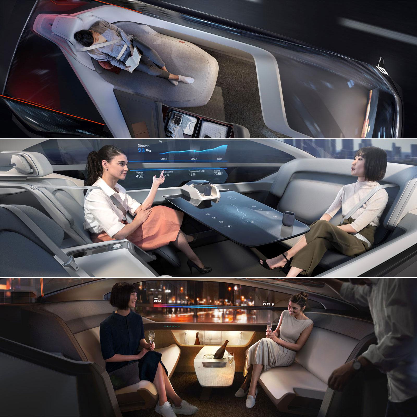 Volvo 360c Autonomous Concept Interior Design Layouts