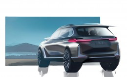 BMW Concept X7 Design Sketch Render