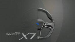 BMW Concept X7 Steering Wheel Sketch Render