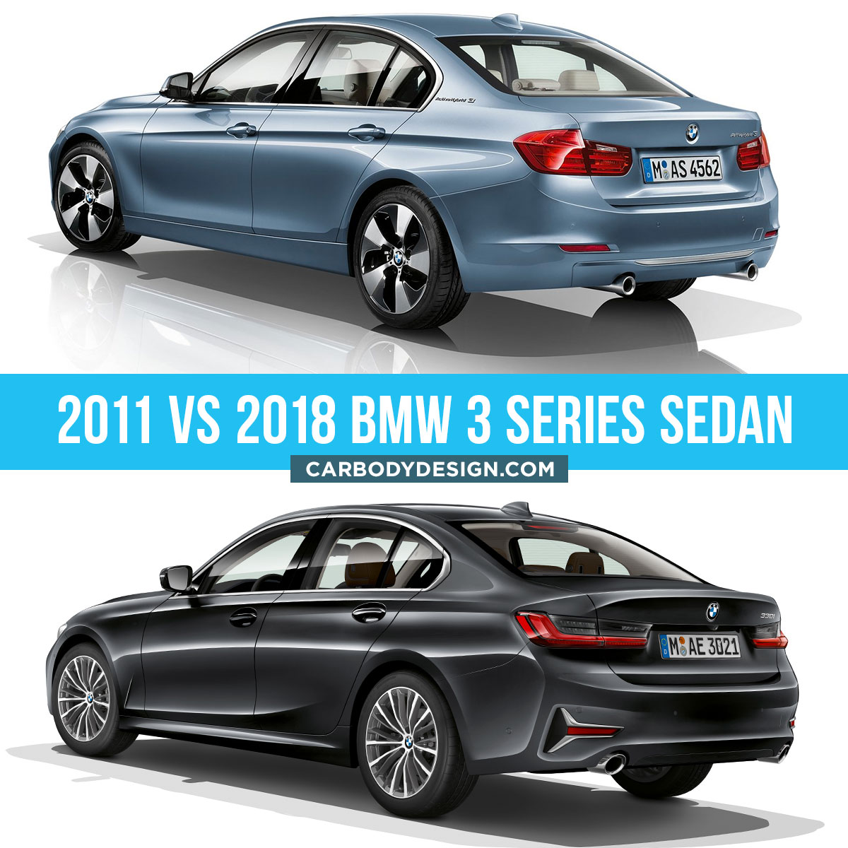 2011 vs 2018 BMW 3 Series Sedan design Comparison