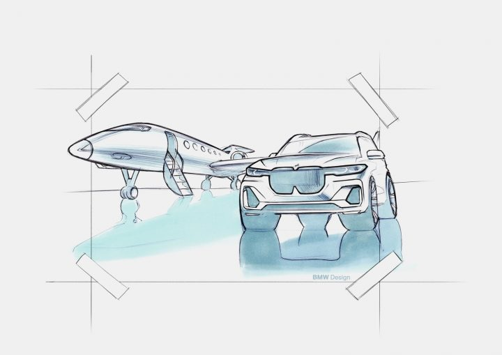 BMW X7 Design Sketch