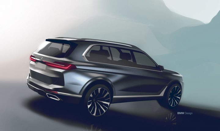 BMW X7 Design Sketch Render