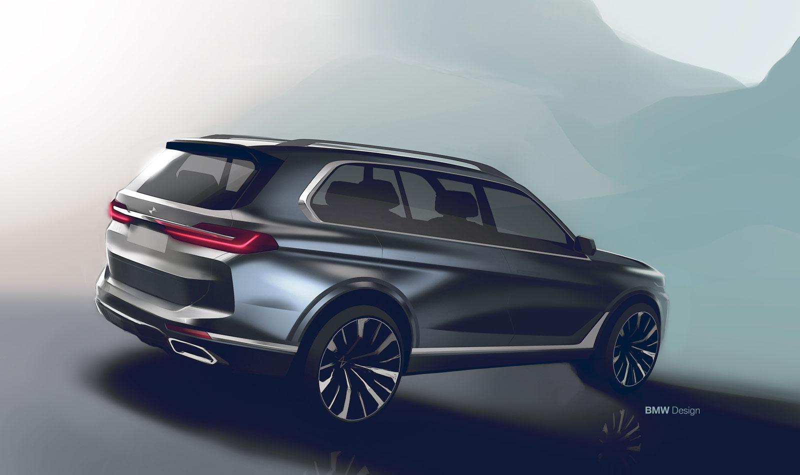 World Car Kia >> BMW X7 Design Sketch Render - Car Body Design