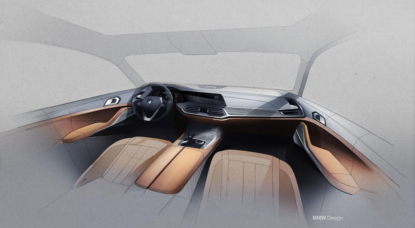 Bmw X7 Interior Design Sketch Render Car Body Design