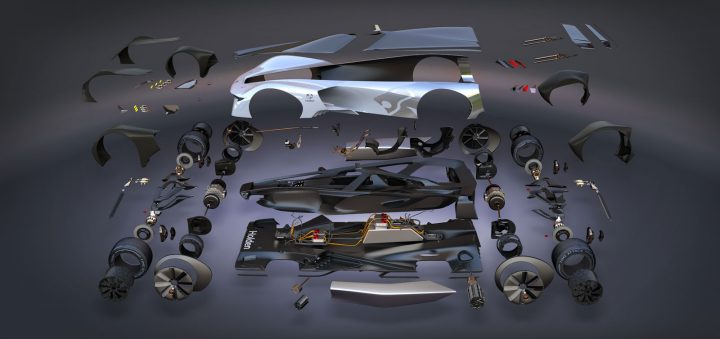Holden Time Attack Concept Racer Exploded View