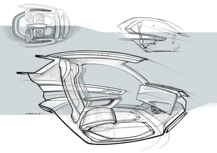 Italdesign Pop.Up Next . Interior Design Sketch