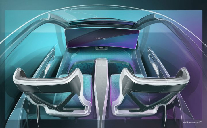 Italdesign Pop.Up Next Interior Design Sketch Render
