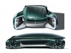 Renault EZ-Ultimo Concept: Design Sketches