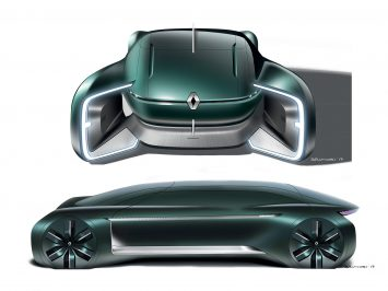Renault EZ Ultimo Concept Design Sketch Render Design Gallery