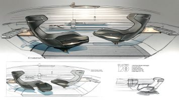 Renault EZ Ultimo Concept Interior Design Sketch