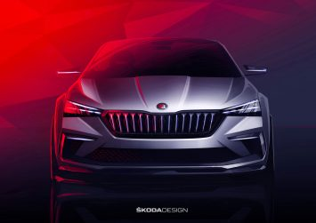 Skoda Vision RS Concept Design Sketch Render