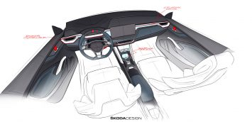 Skoda Vision RS Concept Interior Design Sketch